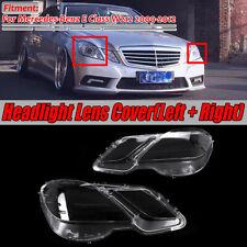 2x Headlight Headlamp Clear Lens Cover For Mercedes Benz E Class W212