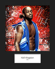 KOFI KINGSTON #1 (WWE) Signed (Reprint) 10x8 Mounted Photo Print - FREE DELIVERY