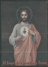 holy card lamina antigua de Jesus pieuse estampa santino