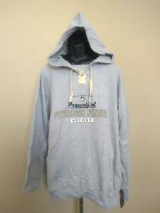 New Pittsburgh Penguins Hockey Mens Size 3X Gray Majestic Hoodie
