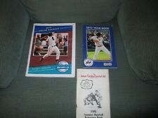"""CAPE COD BASEBALL LOT OF YEARBOOK""""S/PROGRAM"""