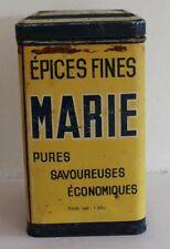 ancienne  boite publicitaire épices fines marie ( daburon frères fabricants )