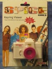 Spice Girls White Key Chain MIP 1997Camera Pictures of the Girls white