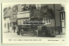 pp0091 - M.E.T Bus at Reigate Red Cross , Surrey c1915 - Pamlin postcard