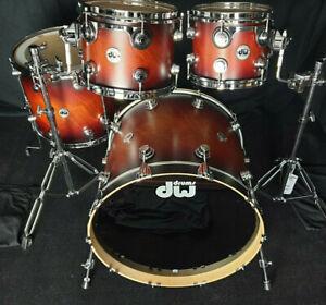 DW Collectors Drumset USA Satin Tobacco Burst Maple Schlagzeug Batterie Bateria