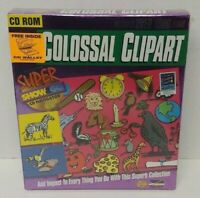 Cosossal Clipart Super Show & Go CD ROM Game Windows PC Big Box New Sealed