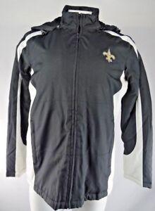 New Orleans Saints Women's  Hooded Winter Jacket Black NFL M L XL