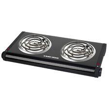 Black Decker Electric Double Burner Buffet Range Db10028