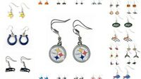 NFL Aminco Dangle Earrings All Teams Official Licensed - Pick Your Team!