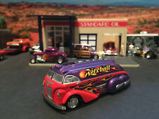 Hot Wheels Limited Ed Rocket Oil Fireball Garage Truck Purple & Red with Flames