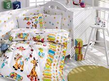 Animals- Deluxe Crib Bedding Baby Quilt Set,100% Cotton, Made in Turkey,6 pieces