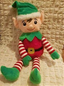 Süßer Weihnachten Elf Plüschtier Puppe Wichtel Figur Stoff Elfen Zwerg 55 cm