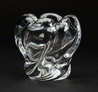 EDVIN OHRSTROM FOR ORREFORS ART GLASS VASE 20TH C.