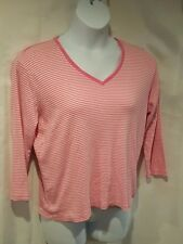 LizWear Women's Size XL Pink & White Striped  Shirt