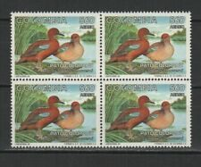 Colombie 1994 oiseaux La Sarcelle cannelle bloc de 4 timbres neufs MNH /TR8361