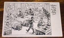 GERMAN WW2 FELDPOST POSTCARD HUMOR HOSPITAL STAMP KRIEGS-WHW 1941 GERMANY