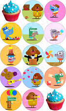 Hey Duggee Premium Wafer cake Muffin Toppers Deco Edible Baking Party stand up
