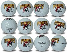 Pittsburgh Pirates Titleist ProV1 Refinished MLB Golf Balls 12 pack