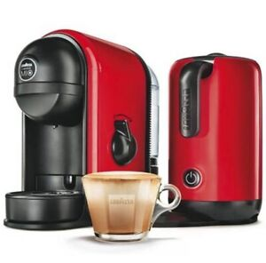 LAVAZZA MINU RED CAFFE LATTE COFFEE MACHINE WITH INTEGRATED MILK FROTHER