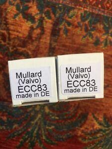 1 matched pair Mullard ECC83, 12AX7, NOS getestet