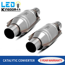 """1pair 2pc EPA Catalytic Converter 2"""" Inlet / Outlet Universal-Fit & O2 Port OBD2"""