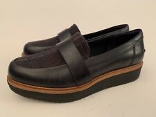 NEW Clarks Teadale Elsa Leather Loafers Women Shoes Black Sz 7 Creepers Platform