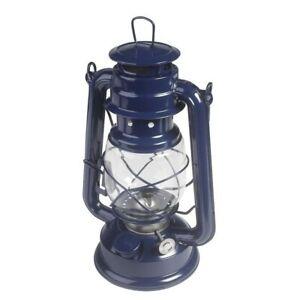Kampa Paraffin/Kerosene Retro Hanging Hurricane Lantern   Blue