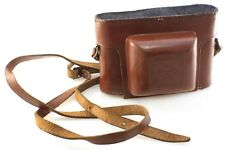 Agfa Super Silette Camera Case with Strap - Tan Brown Leather