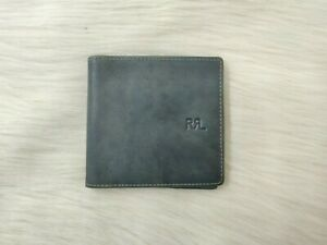 RRL Double RL Indigo Dyed Leather Wallet $490