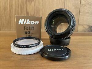 *Mint w/ Filter* Nikon Ai-s Nikkor 50mm F/1.2 MF Prime Lens From Japan #P4-M3
