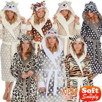 Ladies Robe Ladies Fleece Robe Ladies Bath Robe Ladies Hooded Dressing Gown