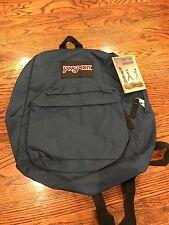 Brand New JanSport Spring Break Backpack book bag in Navy 003 100% Authentic