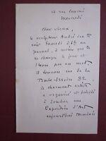 Henri Bouillon Lettre Autographe Signée