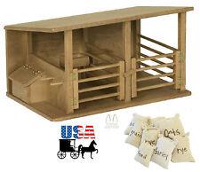 HORSE STABLE WOOD TOY Amish Handmade Breyer Homeschool Montessori BARN PLAY game