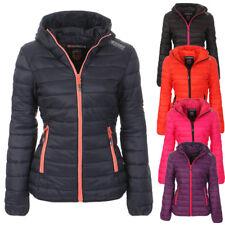 Geographical Norway Women's Quilted Jacket Hood Winter Between-Seasons