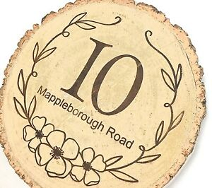Personalised House Name Number. New Home Gift. Christmas Gift. Rustic Plaque