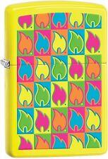 Zippo Choice 2015 Catalog Flame Logo Neon Yellow 28954 New