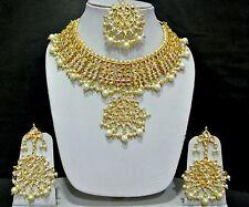 Traditional   Kundan Pearl drops  Choker Bridal  Jewellery Set