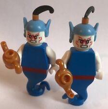 LEGO original PARTS - 2 X GENIE GHOST W. SCARY FACES - GLOWING IN DARK HEADS