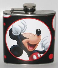 MICKEY MOUSE PARTY DISNEYLAND DISNEY 6OZ LIQUOR HIP FLASK FLASKS BIRTHDAY GIFT!