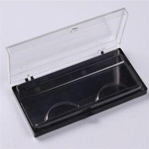1 Pc Black False Eyelashes Case 25mm Transparent Empty Reusable Eyelash Storage