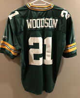 Green Bay Packers #21 Charles Woodson NFL Equipment Jersey Mens size 54 XXL Rare