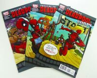 Marvel PRELUDE TO DEADPOOL CORPS 2010 #1 2 3 LOT Lady DEADPOOL VF/NM Ships FREE!