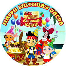 JAKE & the Neverland PIRATES Round Edible Photo CAKE Topper ICING Image