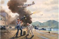 """""""The Warriors of Kaneohe"""" Jim Laurier S/N Limited Edition Print - Pearl Harbor"""