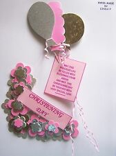 3D CHRISTENING DAY DESIGN CARD CRAFT TOPPER, EMBELLISHMENT  CHDAY - GIRL