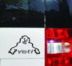 Skoda Yeti Happy Monster Custom Vinyl Sticker Decal, Car Decal, Bumper Sticker
