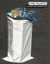"(10) Reusable Contractor Bags - 6 Mil - 25"" x 40"" - Garbage, Dumpster Bag, Trash"