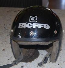 Vintage  Bieffe All Black Motor Cycle Helmet