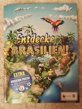 WWF Album Edeka Entdecke Brasilien  Sammelalbum Komplett